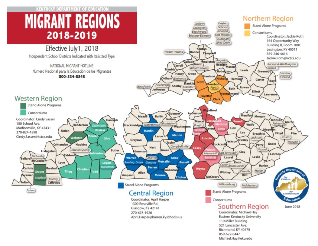 MEP Regions And Districts | Migrant Education | Eastern ... on